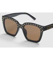 lane bryant women's embellished cateye sunglasses - black onesz black