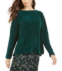 style & co petite chenille pullover sweater, created for macy's