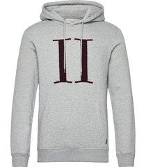 encore bouclé hoodie hoodie trui grijs les deux
