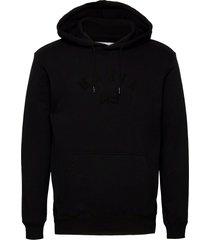 brand hooded sweatshirt hoodie svart makia