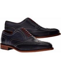 handmade best men's dress shoes oxford trendy black dress wing toe shoes men