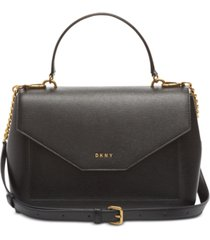 dkny alexa leather top handle satchel, created for macy's