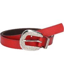 cinturón cuero variedad texturas y colores rojo