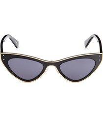 moschino women's 50mm cat eye sunglasses - black