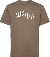 dropout ss crew t-shirts short-sleeved brun allsaints