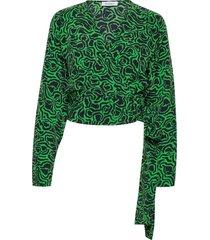 rodebjer dove blouse lange mouwen groen rodebjer