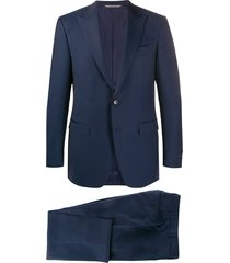 canali formal single breasted suit - blue