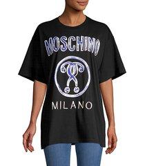 brushstroke logo oversized cotton t-shirt
