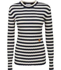 kenzo striped tunic jumper