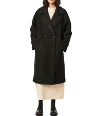 bernardo oversize double breasted faux fur coat, size xx-large in black at nordstrom