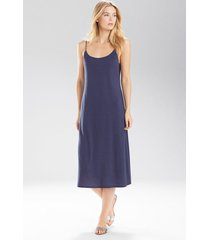 natori shangri-la nightgown, women's, blue, size l natori