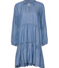lilla ls dress knälång klänning blå second female