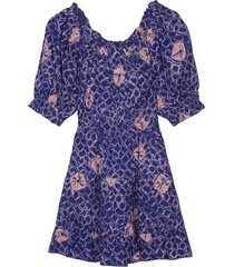 celia dress in cobalt