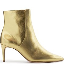 bette bootie - 8 gold metallic leather