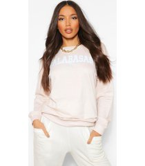 tall 'calabasas' slogan washed oversized sweater, stone