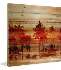 crimson palms print