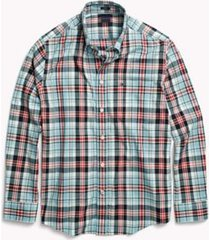 tommy hilfiger men's adaptive regular fit plaid shirt dusk blue/multi - s