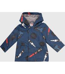 chaqueta azul navy-multicolor boboli