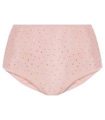 calcinha hot pant cristal - rosa