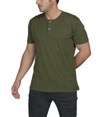 camiseta militar luck & load cuello dos botones manga corta