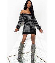 akira all star rhinestone corset mini dress
