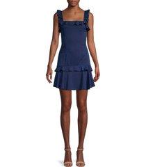 avantlook women's sleeveless flounce dress - navy - size l