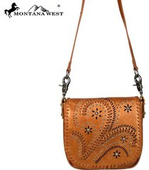 3 colors silver concho stud's fringe leather crossbody montana west purse