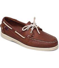 portland tumbled båtskor skor brun sebago