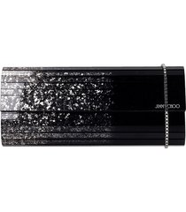 jimmy choo sweettie gde clutch in silver acrylic