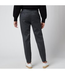 ami women's slim trousers - grey - fr 34/uk 6