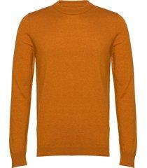 gees o-n 132 gebreide trui met ronde kraag oranje samsøe samsøe