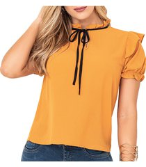 blusa amparo amarillo para mujer croydon