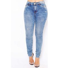 calã§a feminina spot blue emporio alex jeans azul - azul - feminino - dafiti