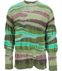 kenzo multi-stripe sweater