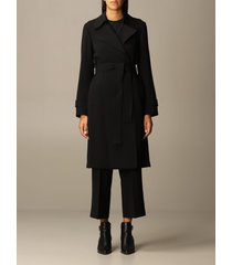 theory coat theory coat in crêpe dressing gown with belt