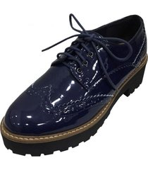oxford charol navy todopiel