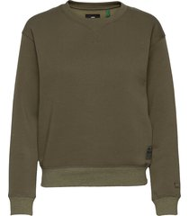 premium core r sw wmn l\s sweat-shirt tröja grön g-star raw