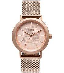 relógio euro strong woman spikes rosé feminino