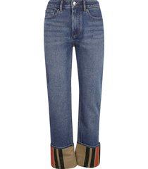 burberry striped cuff jeans