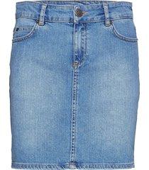 alexa blue denim skirt korte rok blauw lexington clothing