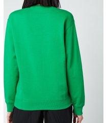 kenzo women's logo classic sweatshirt - green - l