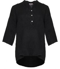 tiffany shirt linen, black, 17661