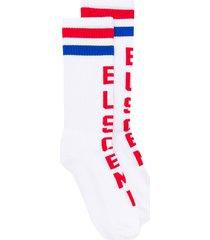 buscemi logo print ankle socks - white