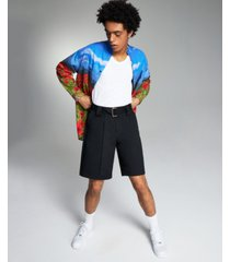 inc international concepts allen onyia men's belted shorts, created for macy's