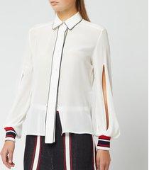 golden goose deluxe brand women's isako shirt - tofu - l - white