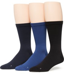 perry ellis portfolio men's 3-pack pique flat socks