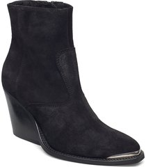 sofia shoes boots ankle boots ankle boot - heel svart pavement