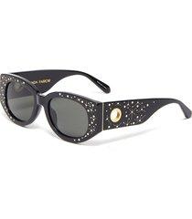 'debbie' embellished d-frame sunglasses with scarf