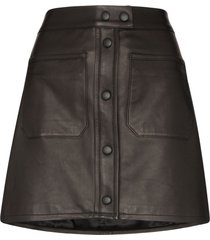 frame patch pocket mini-skirt - black
