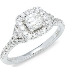 ideal 14k white gold & diamond ring